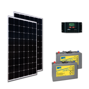 Kit PV ECLAIRAGE ET FRIGO MADRID MEDIUM LIFE (2kWh/m²)