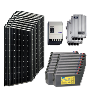 Kit PV résidentiel MAXI MADRID MEDIUM LIFE (2kWh/m²)