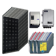 Kit PV résidentiel MAXI MARRAKECH HIGH LIFE  (4kWh/m²)