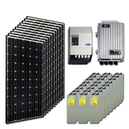 Kit PV résidentiel MAXI MARRAKECH HIGH LIFE+  (4kWh/m²)
